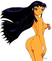 Nude Blackfire by OmegaFrieza666