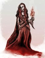 Ice and Fire - Lady Melisandre by yakuzafish