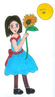 Sunflower Girl by Rhythm-Wily