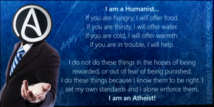 I Am A Humanasit Athiest by PrinceOfDiscord