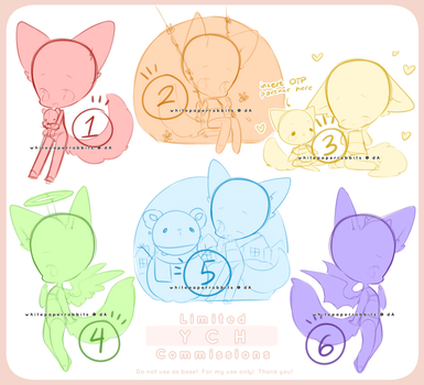 [CLOSED] Limited YCH Commission Set 3 by whitepaperrabbits