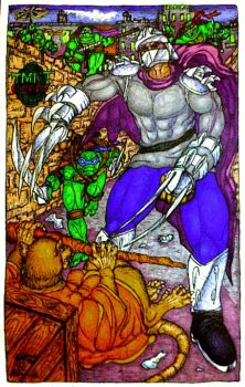 TMNT Comic The Shredder front cover completed by NinjaTurtleIggy