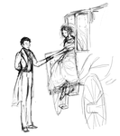 Marius and Cosette by pelides