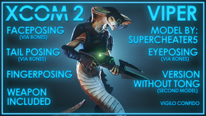 XCOM 2: Viper (with weapons) by MrShlapa