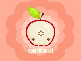 Applelicious Wallpaper by bombthemoon