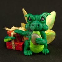 Christmas Pixie Dragon by The-GoblinQueen