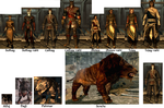 Bipedal and Quadruped Khajiit Form Interpretations by AedricDaedra