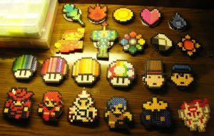 Perler Buttons 2 by Blackshadowbutterfly