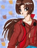 Keiichiro in Autumn by ellana