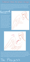 How to draw wings tutorial by alexavarice