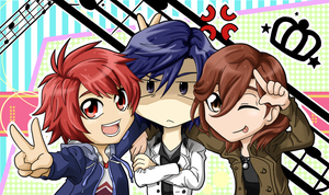 UTA NO PRINCE SAMA S2 - TEAM REIJI FAN ART by Mearii-chi