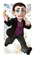 Chibi Ninth Doctor Badge by TwinEnigma