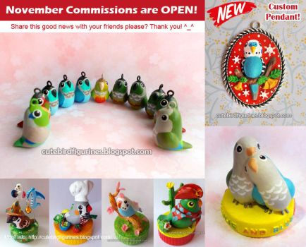 Would you like to order a custom bird figurine? by emmil