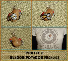 Portal 2 - GLaDOS POTaDOS Potato Charm Necklace by YellerCrakka