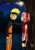 NaruSaku: Moon Light by Martusia-Nina