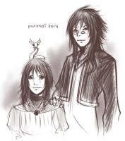HS: mother and son. by purenai