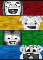 Minecraft Retard Homies by GoldSolace
