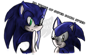 20 Years of Super Sonic Speed by SonicWolvelina99