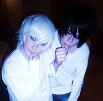 Near and L - Death Note Cosplay by RizaHawkeyefma
