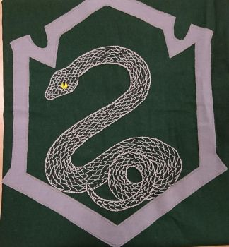 Slytherin emblem embroidery  by ceriumofspace