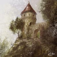 Eftelingstyle towersketch by RogerStork