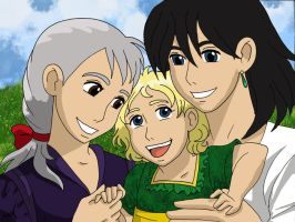 Sophie, Hannah and Howl by Inuyashagirl