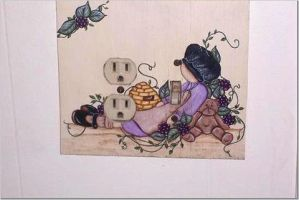 Bathroom lightswitch cover by didi1959