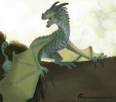 Another Helovian Dragon - Commision by equusamor