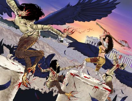 War Goddess 5 wraparound cover by MDiPascale