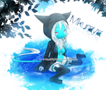 vVv. Blue puddle .vVv by DigiKat04