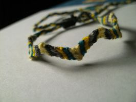 Grey-Yellow Zig-Zag Bracelet by PositivelyRainbow