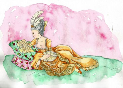 The letter and the yellow dress by IslaAntonello