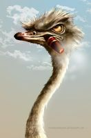 Smoking Ostrich by ruxandramarin
