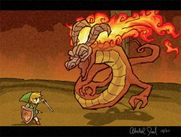 ww volvagia vs link by Mast3r-sword