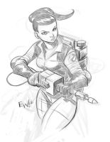 Ghostbuster - DigiPencils Commission by EryckWebbGraphics