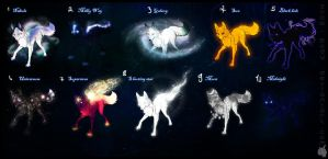 Adopts: 10 Universe Canines +:CLOSED:+ - points by Snow-Body