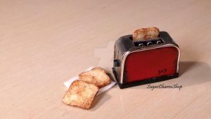 1:12 toaster and toast by sugarcharmshop
