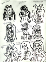 Monster High Doodles by DisneyWiz
