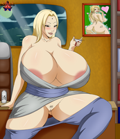 Busty Tsunade by DemonRoyal