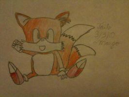 Tails. Sonic 2 style by mango-chan88