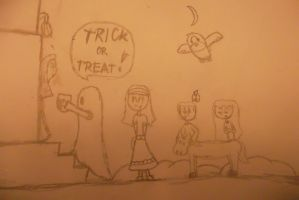 Trick or Treat! (doodle) by LudwigGirl