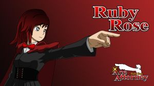 Ruby Rose Ace Attorney - Ruby Wallpaper by IceNinjaX77