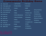 Creepypasta Birthday Games #3 by lilkairi15
