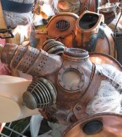 Maker Faire steampunk masks by TomBanwell
