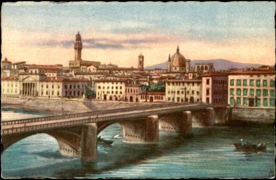 Vintage European Postcards - Florence, Italy by Yesterdays-Paper