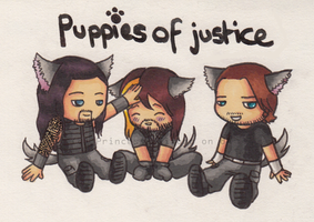 Puppies of justice by Princess--Kimono