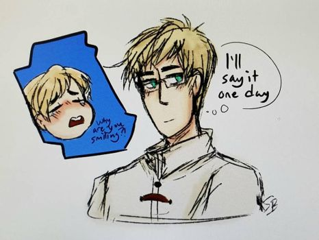Hetalia Scene Redraw (digital sketch) by Scribblebun
