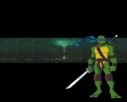 TMNT '08 wallpaper: Leo by donnys-boy