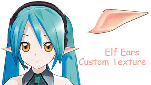 MMD- Custom Tex. Elf Ears -DL by MMDFakewings18
