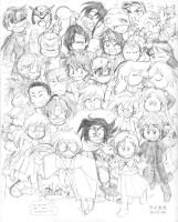 Big Bunch of Characters by laikaken